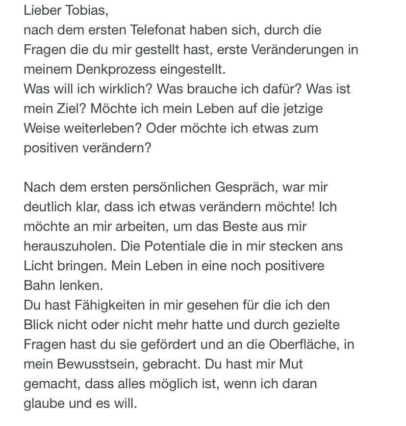 Telefonat - Anfang - Freiheit - Tobias Witzenberger - Mentoring