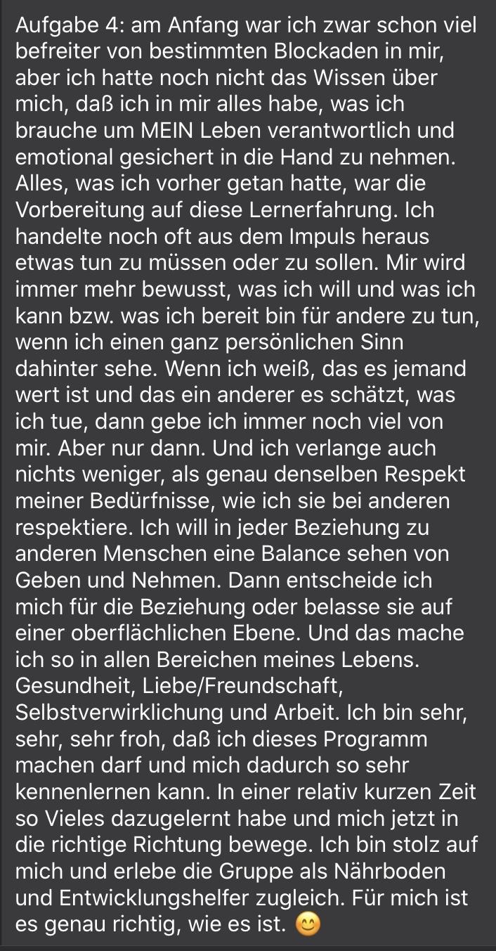 Freiheit durch Mentoring - T. Witzenberger- Praxis
