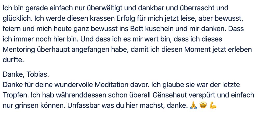 Glücklich - Neue Erlebnisse - Mentoring - Witzenberger